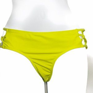Hollister Neon Yellow Cut Out Sides Small A2 0625